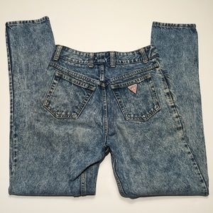 Vintage 90s Guess Acid Washed Jeans M